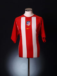 2005-06 Atletico Madrid Home Shirt XL.Boys