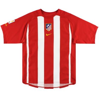 2005-06 Atletico Madrid Nike Home Shirt L