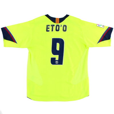 2005-06 Barcelona Away Shirt Eto'o #9 L