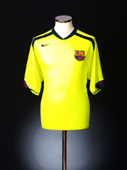 2005-06 Barcelona Away Shirt XL