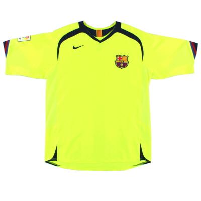 2005-06 Barcelona Away Shirt L.Boys