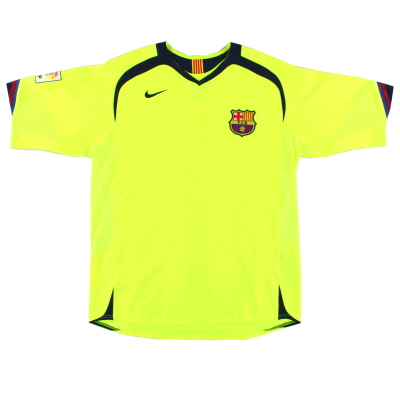 2005-06 Barcelona Away Shirt L