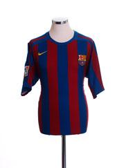 2005-06 Barcelona Home Shirt M