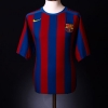 2005-06 Barcelona Home Shirt Xavi #6 XL