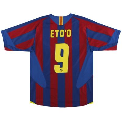 2005-06 Barcelona Nike Home Shirt Eto'o #9 M