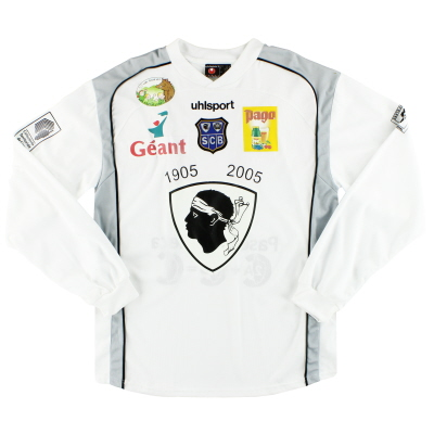 2005-06 Bastia Uhlsport Match Issue Away Shirt Matingou #17 L/S XL