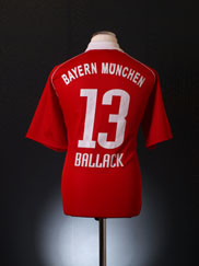 2005-06 Bayern Munich Home Shirt Ballack #13 M