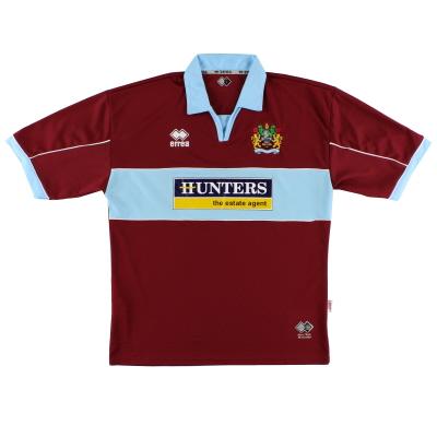 2005-06 Burnley Errea Home Shirt M