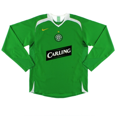 2005-06 Celtic Away Shirt L/S *Mint* S