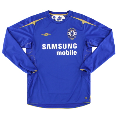 2005-06 Chelsea Umbro Centenary Home Shirt L/S M