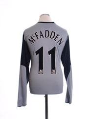 2005-06 Everton Away Shirt McFadden #11 L/S XL