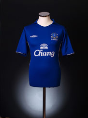 2005-06 Everton Home Shirt M