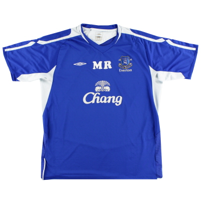 2005-06 Everton Worn Training Shirt XL