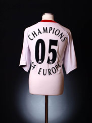 2005-06 Liverpool Away Shirt 'Champions of Europe' XXL