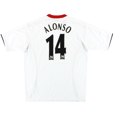 2005-06 Liverpool Reebok Away Shirt Alonso #14 L