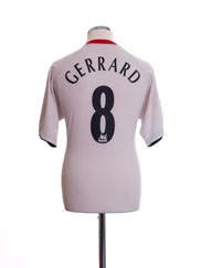 2005-06 Liverpool Away Shirt Gerrard #8 S