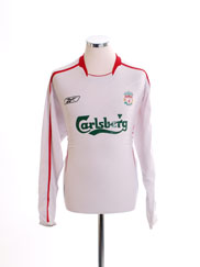 2005-06 Liverpool Away Shirt L/S L