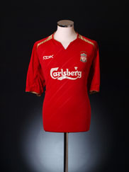 2005-06 Liverpool Champions League Home Shirt L.Boys