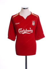 2005-06 Liverpool Champions League Home Shirt M
