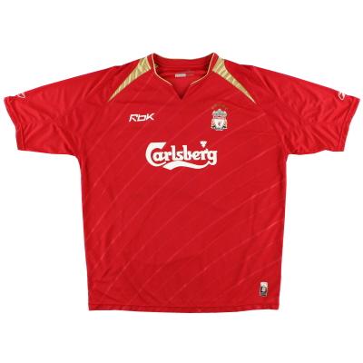 2005-06 Liverpool Reebok Champions League Home Shirt L