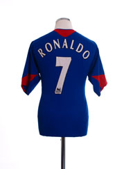 2005-06 Manchester United Away Shirt Ronaldo #7 L.Boys
