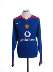 2005-06 Manchester United Away Shirt L/S M