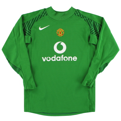 2005-06 Manchester United Nike Goalkeeper Shirt M.Boys