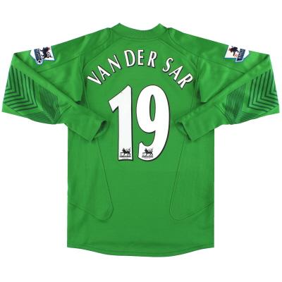 2005-06 Manchester United Nike Goalkeeper Shirt Van Der Sar #19 L.Boys