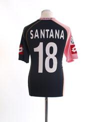 2005-06 Palermo European Away Shirt Santana #18 L