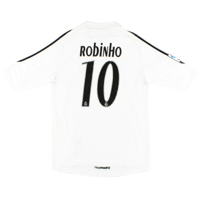 2005-06 Real Madrid Home Shirt Robinho #10 M