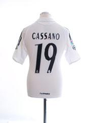 2005-06 Real Madrid Home Shirt Cassano #19 XL.Boys