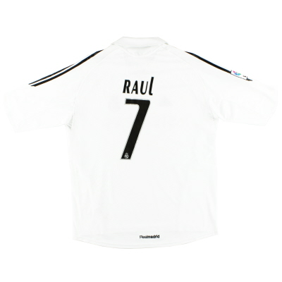 2005-06 Real Madrid Home Shirt Raul #7 XL