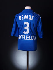2005-06 Strasbourg Match Issue Home Shirt Devaux #3 XL