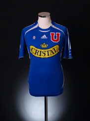 2005-06 Universidad de Chile Player Issue Home Shirt Droguett #4 S