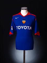 2005-06 Valencia Away Shirt XL.Boys