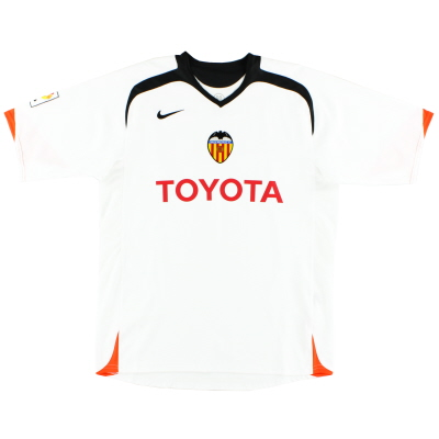 2005-06 Valencia Home Shirt *Mint* L