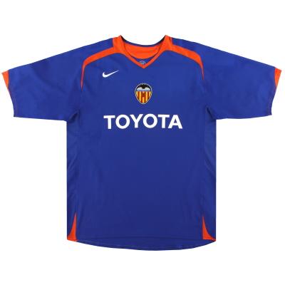 2005-06 Valencia Nike Away Shirt *Mint* M