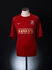 2005-06 Walsall Home Shirt L