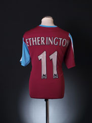 2005-06 West Ham Home Shirt Etherington #11 L