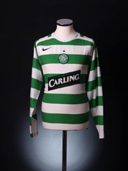 2005-07 Celtic Player Issue Home Shirt L/S L