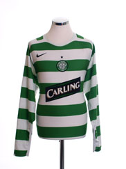 2005-07 Celtic Home Shirt L/S L
