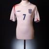 2005-07 England Home Shirt Beckham #7 L