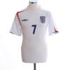 2005-07 England Home Shirt Beckham #7 Y