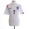 2005-07 England Home Shirt Beckham #7 *Mint* L