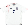 2005-07 England Home Shirt Beckham #7 XL