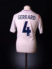 2005-07 England Home Shirt Gerrard #4 XXL
