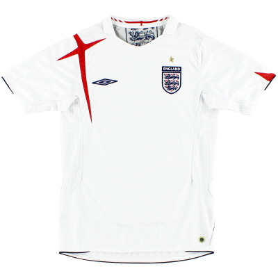 2005-07 England Home Shirt L.Boys