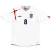 2005-07 England Home Shirt Lampard #8 XL