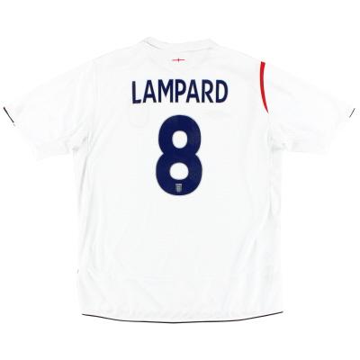 2005-07 England Umbro Home Shirt Lampard #8 M