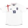 2005-07 England Home Shirt Owen #10 XL